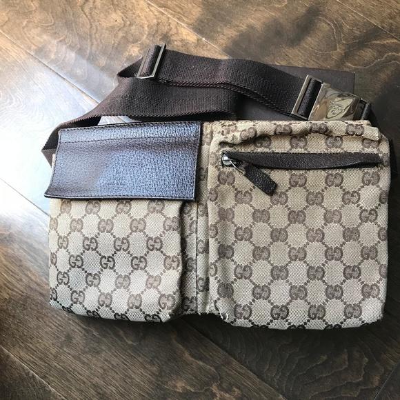 7e8a2b54449 GUCCI Handbags - Auth Gucci GG Fanny pack Waist Pouch Brown